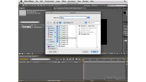 Dynamic Link video from Premiere Pro: After Effects CS4 New Features
