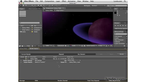 Adding rendered footage to a project: After Effects CS4 New Features