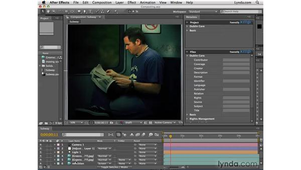 The XMP Metadata panel: After Effects CS4 New Features