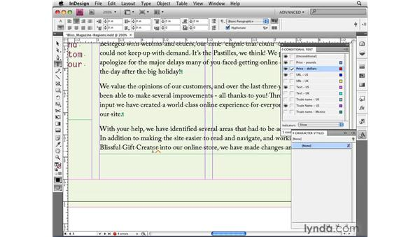 Applying conditions quickly and creatively: InDesign CS4 New Features