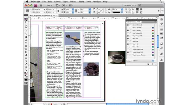 Making images and frames conditional: InDesign CS4 New Features
