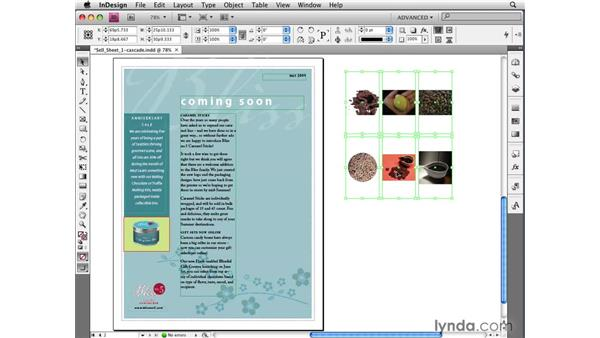 Placing via Contact Sheet Cascade: InDesign CS4 New Features