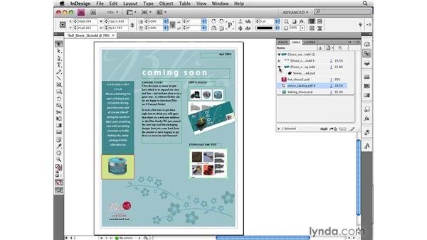 Reviewing updated image commands: InDesign CS4 New Features