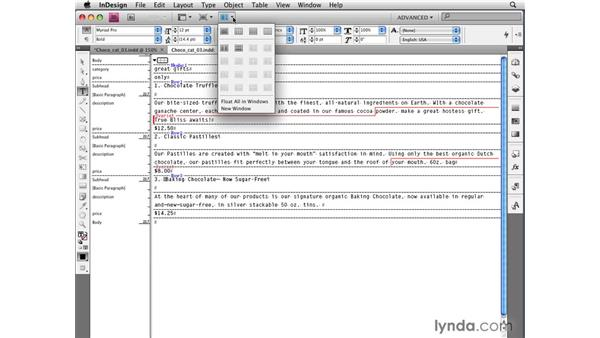 Editing tables in the Story Editor: InDesign CS4 New Features