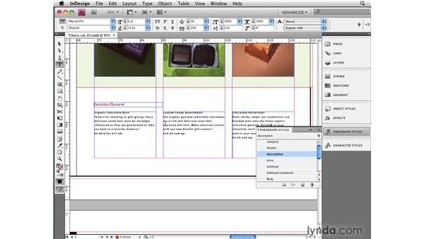 Creating styles on the fly: InDesign CS4 New Features