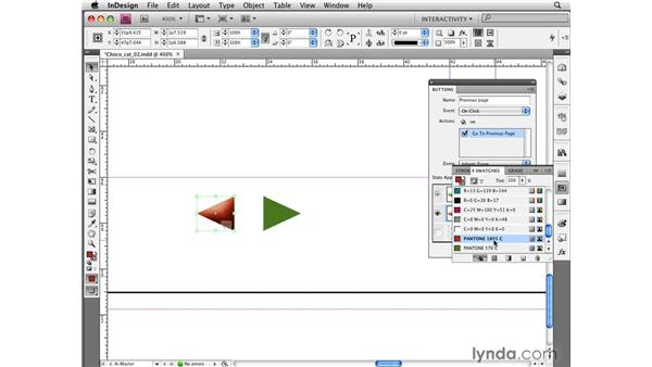 Creating interactive buttons with the new Buttons panel: InDesign CS4 New Features