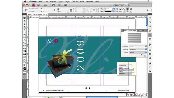 Creating page transitions for PDFs and SWFs: InDesign CS4 New Features
