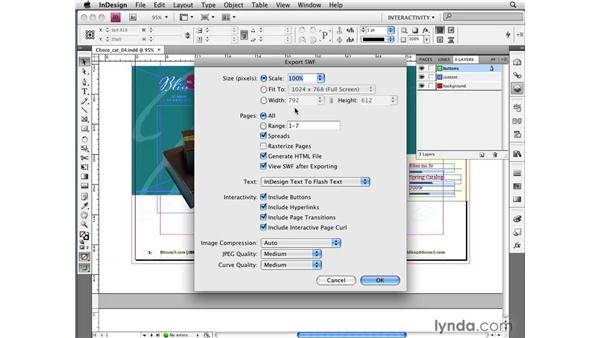 Exporting layouts to SWF files: InDesign CS4 New Features