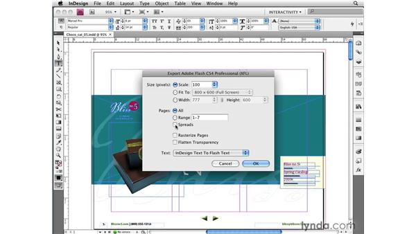 Exporting layouts to XFL (editable Flash format) files: InDesign CS4 New Features