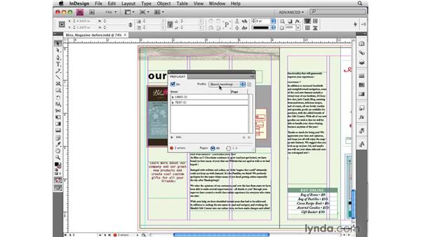 Checking and correcting layouts with Live Preflight: InDesign CS4 New Features