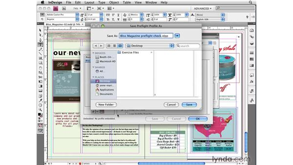 Creating and sharing custom preflight profiles: InDesign CS4 New Features