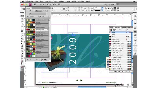 Using the Adobe Kuler panel to share swatches: InDesign CS4 New Features