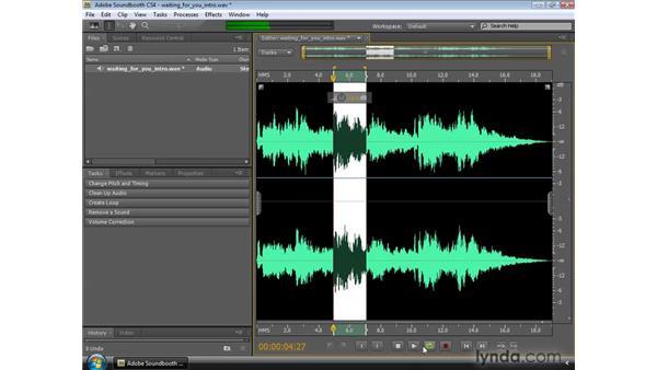 Using the Editor panel and the Zoom navigator: Soundbooth CS4 Essential Training