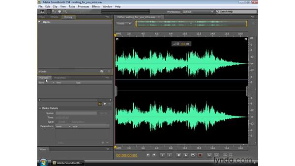 Working with panels and dockable palettes: Soundbooth CS4 Essential Training