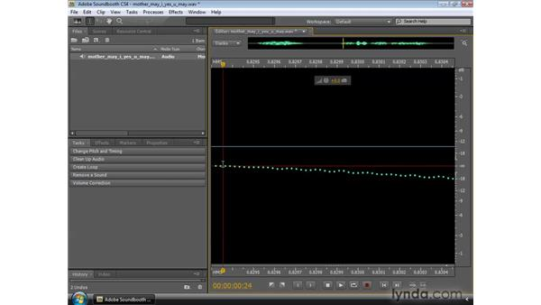 Cutting, deleting, copying, and pasting : Soundbooth CS4 Essential Training