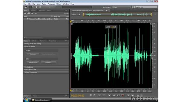 Cleaning up audio: Soundbooth CS4 Essential Training