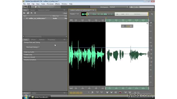 Changing pitch and timing: Soundbooth CS4 Essential Training