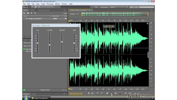 Using the Graphic EQ: Soundbooth CS4 Essential Training