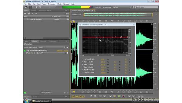 Using the Parametric EQ: Soundbooth CS4 Essential Training