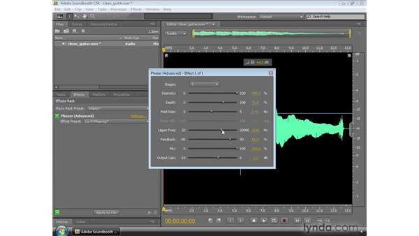 Using the Phaser: Soundbooth CS4 Essential Training