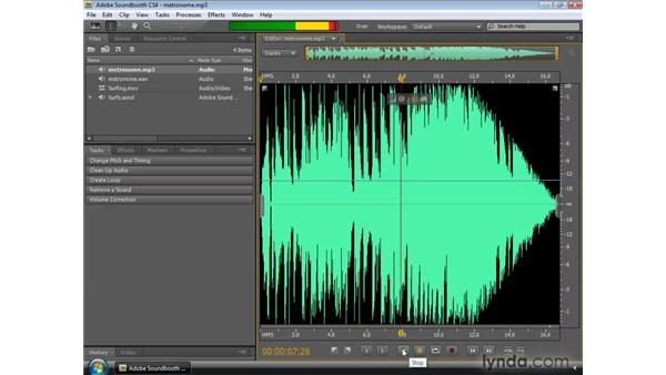 Saving audio and video files: Soundbooth CS4 Essential Training