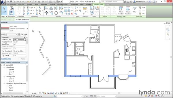 Using the Properties palette: Revit Architecture 2016 Essential Training (Metric)