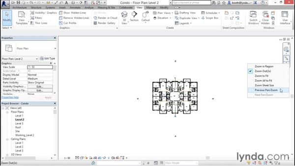 Navigating views (zooming, panning, and rotating): Revit Architecture 2016 Essential Training (Metric)