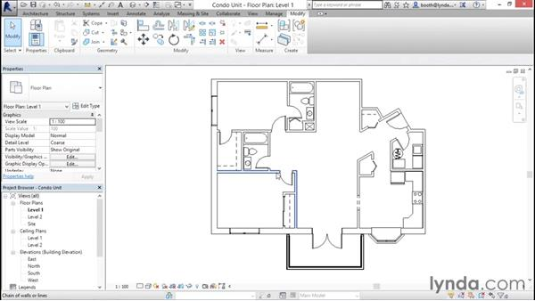 Selecting objects: Revit Architecture 2016 Essential Training (Metric)