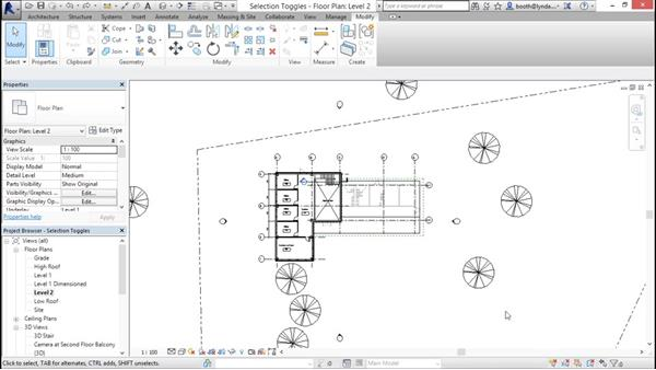 Understanding selection toggles: Revit Architecture 2016 Essential Training (Metric)