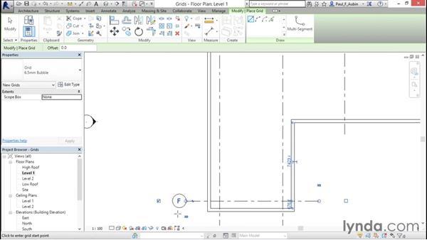 Adding grids: Revit Architecture 2016 Essential Training (Metric)