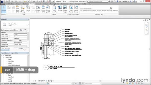 Understanding CAD inserts: Revit Architecture 2016 Essential Training (Metric)
