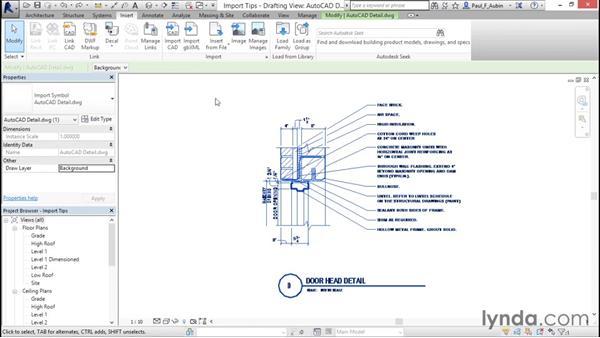 Import tips: Revit Architecture 2016 Essential Training (Metric)