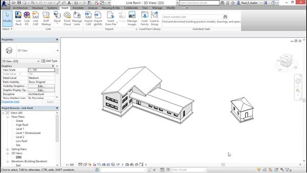 Creating Revit links: Revit Architecture 2016 Essential Training (Metric)