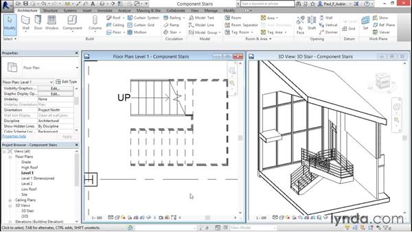 Working with component-based stairs: Revit Architecture 2016 Essential Training (Metric)