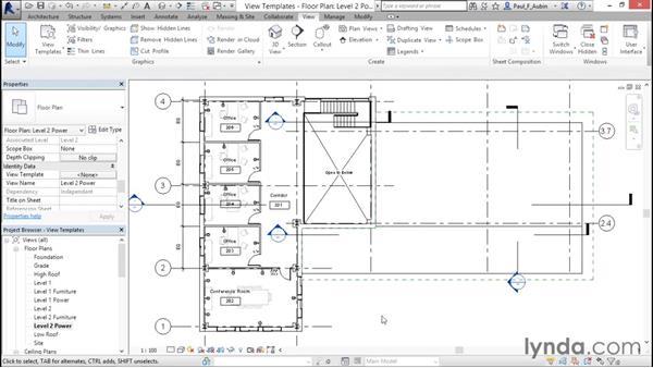 Using view templates: Revit Architecture 2016 Essential Training (Metric)