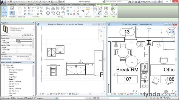 Displaying objects above and below in plan views: Revit Architecture 2016 Essential Training (Metric)