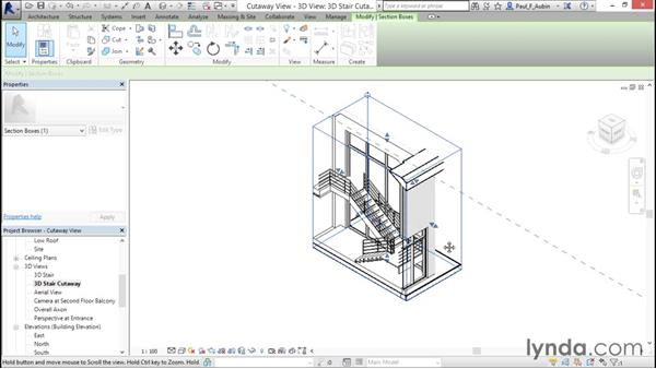 Using cutaway views: Revit Architecture 2016 Essential Training (Metric)