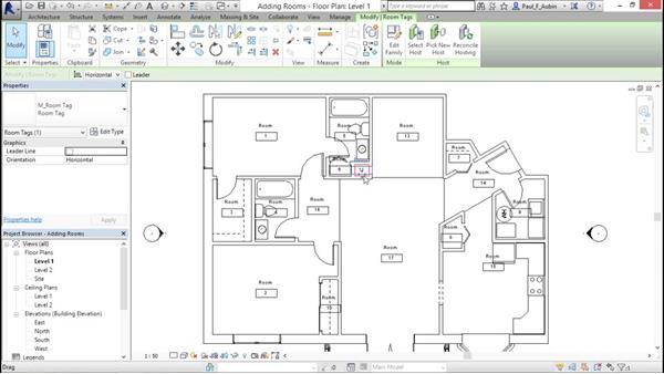 Adding rooms: Revit Architecture 2016 Essential Training (Metric)