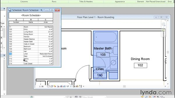 Understanding room bounding elements: Revit Architecture 2016 Essential Training (Metric)