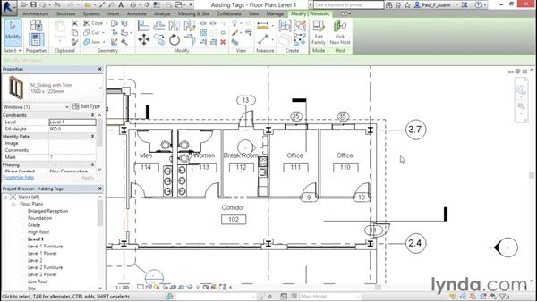 Understanding tags: Revit Architecture 2016 Essential Training (Metric)