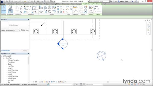 Adding symbols: Revit Architecture 2016 Essential Training (Metric)