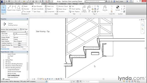 Using arrays to parametrically duplicate objects: Revit Architecture 2016 Essential Training (Metric)