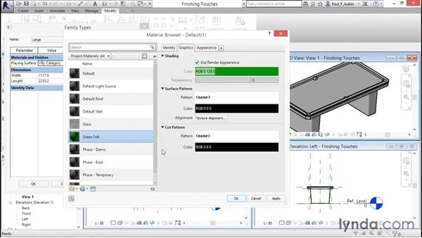 Completing the family: Revit Architecture 2016 Essential Training (Metric)