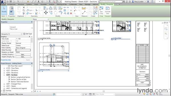 Adding sheets: Revit Architecture 2016 Essential Training (Metric)