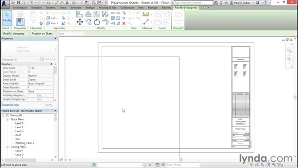 Working with placeholder sheets: Revit Architecture 2016 Essential Training (Metric)
