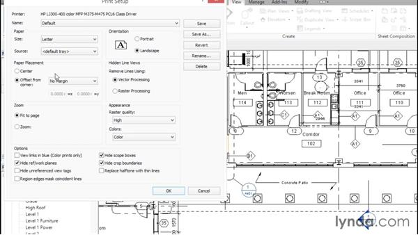 Plotting and creating a PDF: Revit Architecture 2016 Essential Training (Metric)