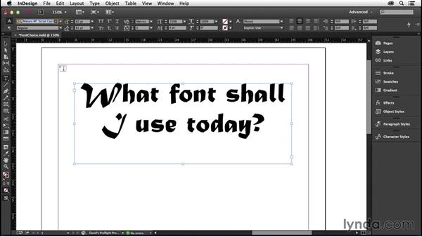 192 Test font choices quickly in CC: InDesign Secrets