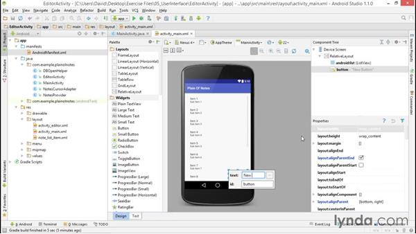 Creating the editor activity and layout: Building a Note-Taking App for Android