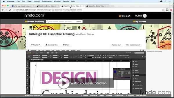 What you should know before watching this course: Developing Multistate Objects in InDesign
