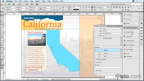 Creating a pop-up: Developing Multistate Objects in InDesign